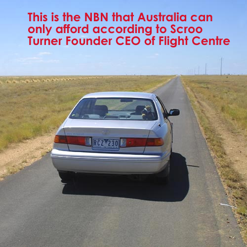 Skroo Turner's Comment on the NBN that we can only Afford